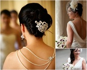 jewels,back drop necklace,necklace,wedding