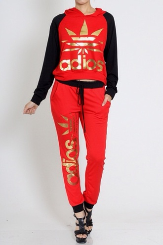 sweater fashion style hoodie pants jumpsuit adios sweatsuit