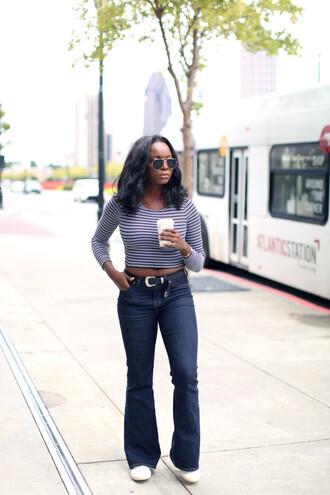 millennielle blogger top jeans belt