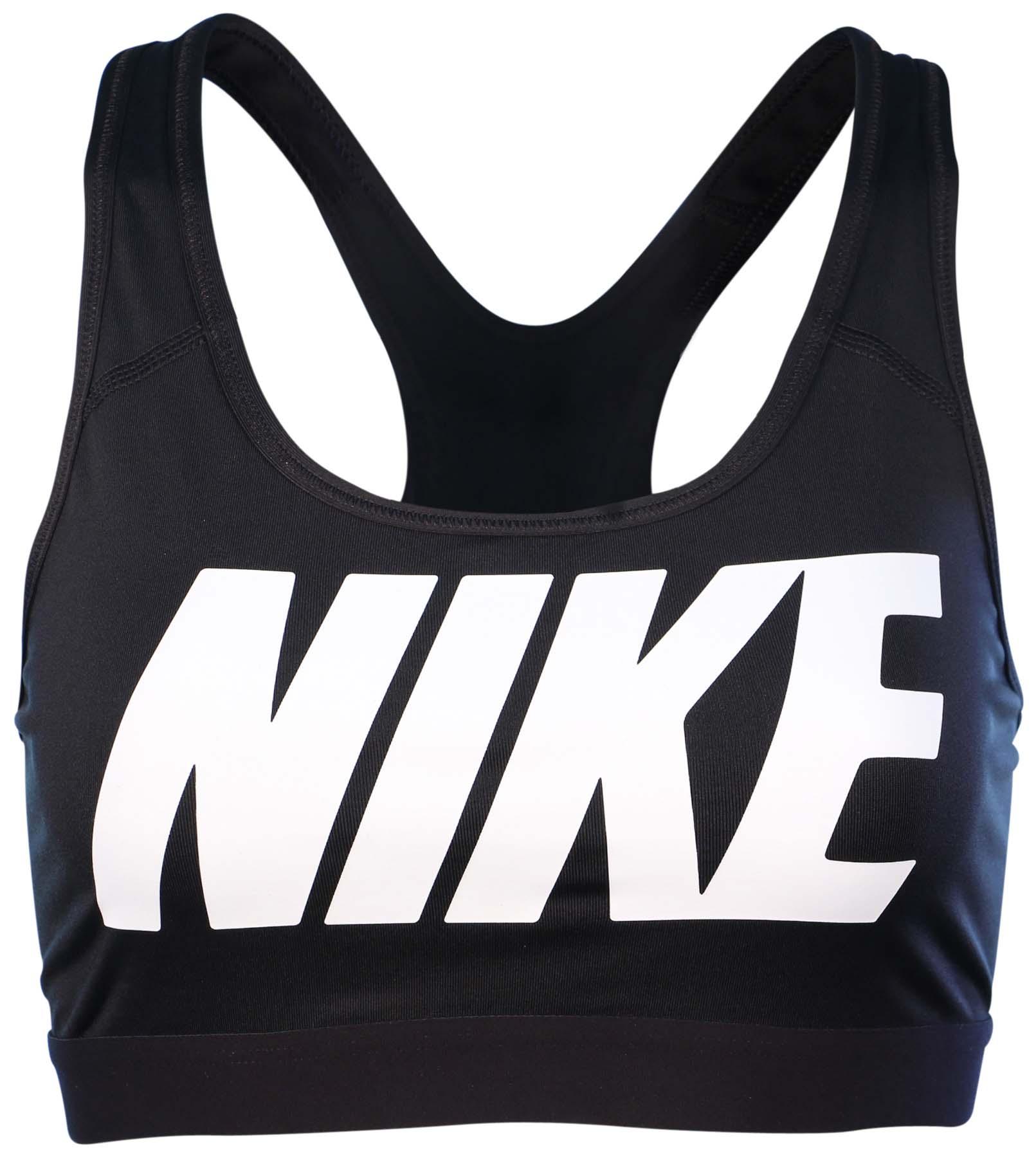c58f1cdd275 Nike Women s Pro Classic Logo Sports Bra-Black - Walmart.com