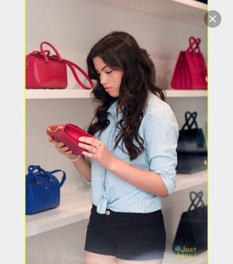 bag paola andino purse pink black blue