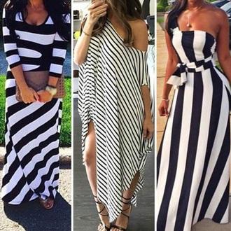 dress stripes black and white summer dress