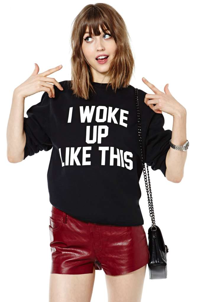 'i woke up like this' sweater · summah breeeze · online store powered by storenvy