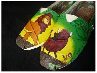 shoes toms pumba lion king hakuna matata