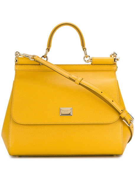 women leather yellow orange bag