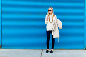 kelly in the city - a preppy chicago life,style and fashion blog,blogger,shoes,jeans,sweater,jewels,coat,white sweater,loafers,trench coat