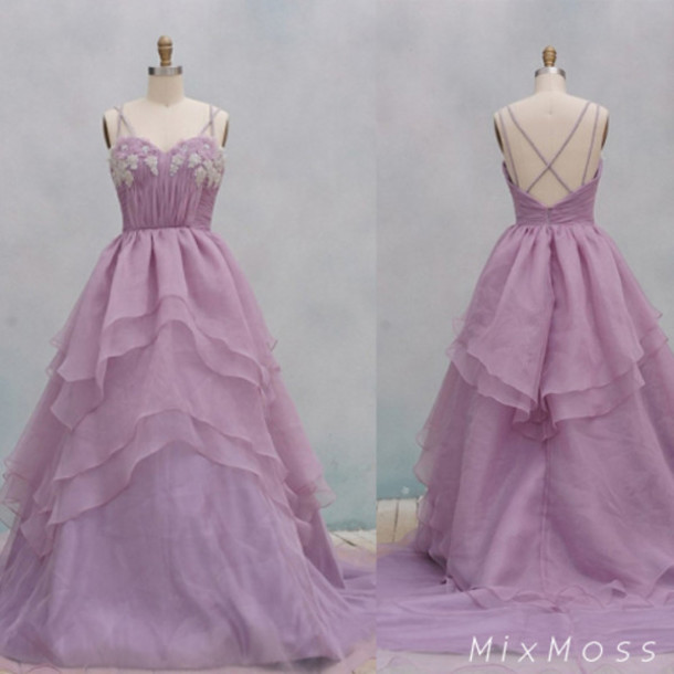 Purple Vintage Wedding Dress