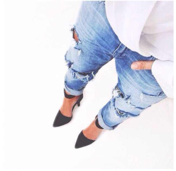jeans destroyed boyfriend jeans, rihanna, denim,