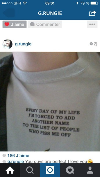 shirt grunge funny tumblr teenagers shirt t-shirt