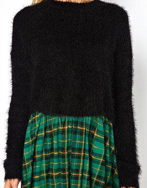 Asos fluffy crop jumper at asos