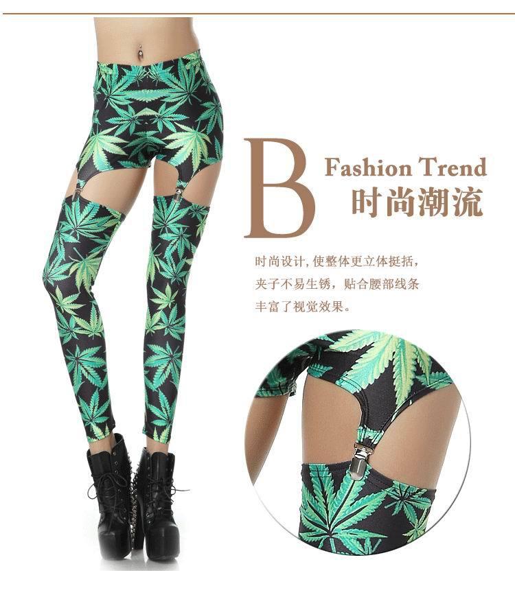 Silk Milk Spandex SUSPENDER Leggings Galaxy Cannabis Leaf Leaves Weed Marijuana ePacket Fast Free Shipping-in Socks & Hosiery from Apparel & Accessories on Aliexpress.com