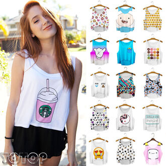 tank top crop emoji print emoji shirt emoji crop top white blue summer summer top cute top cut off shorts crop tops cropped starbucks coffee coffee floral 90s style pink aztec aztec top cartoon tropical black tumblr girl tumblr trendy hipster girly style hippie girl cool summer outfits short t-shirt top colorful yellow starbucks coffee t shirt sleevless white crop tops lookbook daisy food pinterest donut yellow funny emoji pattern adventure time micky mouse hands lumpy space princess vest cute outfits