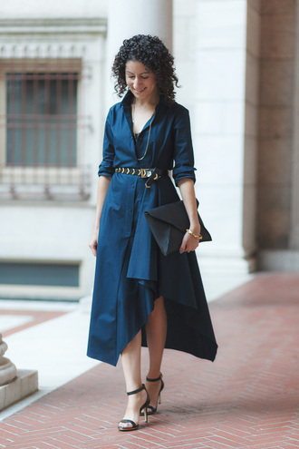 alterations needed blogger dress belt shoes bag jewels shirt