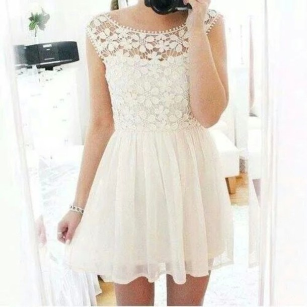 dress blanche white dress robe blanche dentelle dress. Black Bedroom Furniture Sets. Home Design Ideas