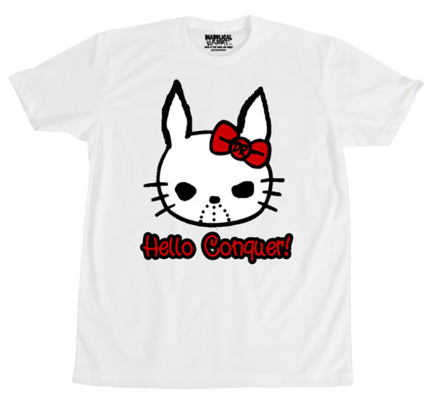 shirt hello conquer hello kitty
