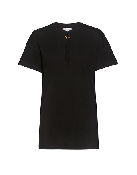 RED VALENTINO t-shirt shirt t-shirt open black top