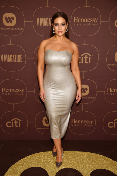 dress, silver, silver dress, metallic, ashley graham, curvy, plus ...
