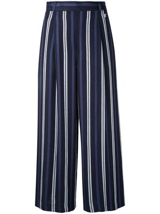 cropped women blue pants