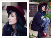 like a riot,blogger,hat,burgundy,thick heel,suede shoes,acid wash jeans