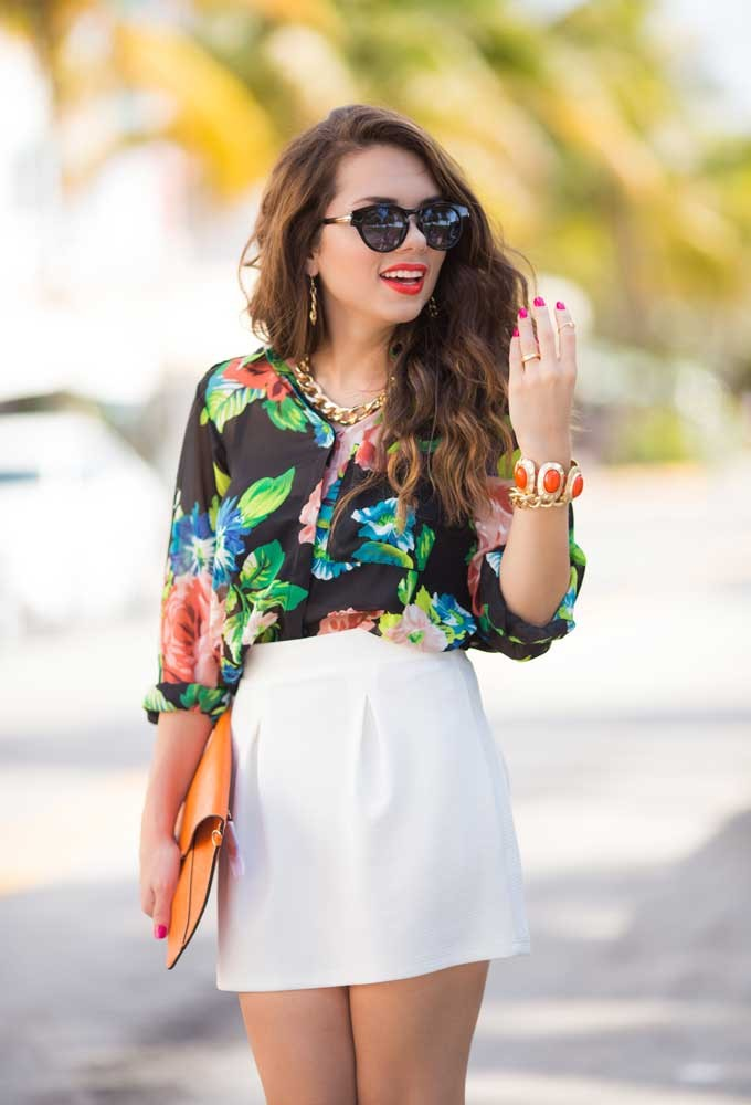 Trendy Clothing, Fashion Shoes, Women Accessories   Hope Floral Sheer Blouse   LoveShoppingMiami.com