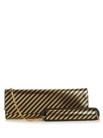 leather clutch clutch leather gold black bag