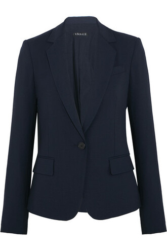 blazer blue wool jacket
