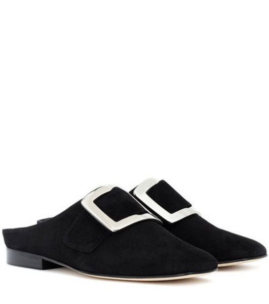 Dorateymur Han suede slippers in black