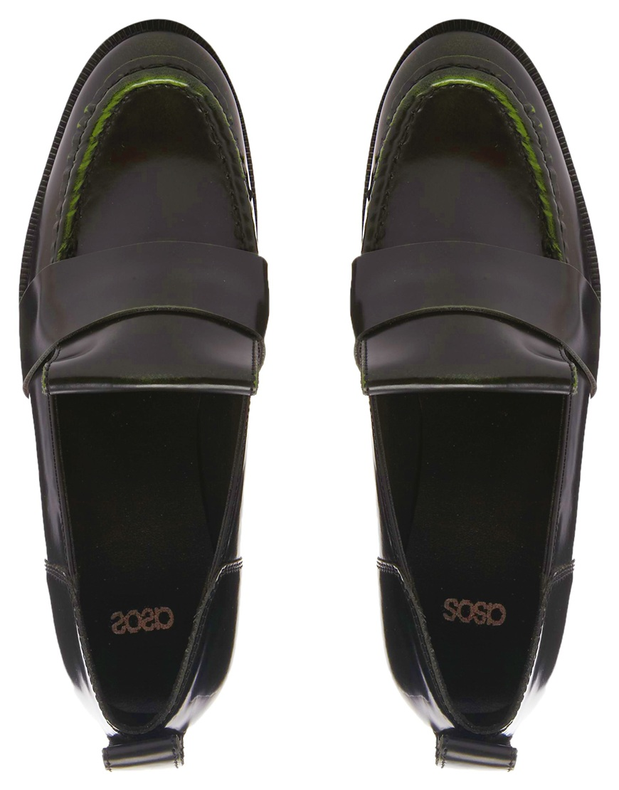 ASOS MOONLIGHT Leather Loafers at asos.com