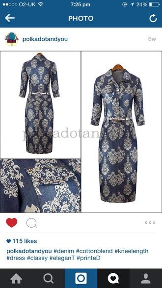 dress denim dress chinese fashion long dress printed dress