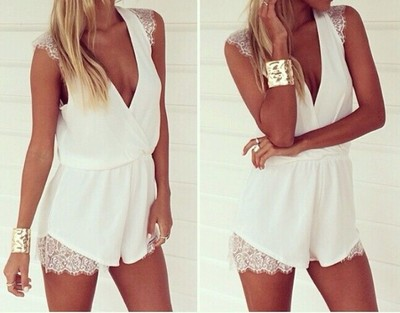 'summer goddess' white lace playsuit · ebony lace fashion boutique · online store powered by storenvy