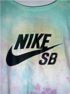 Unisex Oversized Nike Sb Tie Dye T-Shirt Size 6-16 XL Punk Grunge Indie Hipster