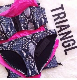 swimwear triangle snake print swimwear two piece summer