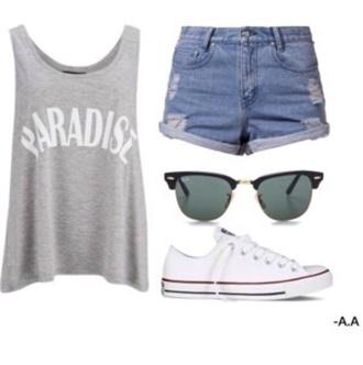 shirt justin bieber paradise grey blue shorts normal beach hawaiian skater skater girl chuck taylor all stars white glasses sunglasses shoes