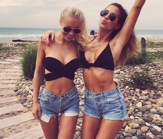 swimwear black bikini bandeau left left side left one bikini bikini top summerbikini summer summer outfits