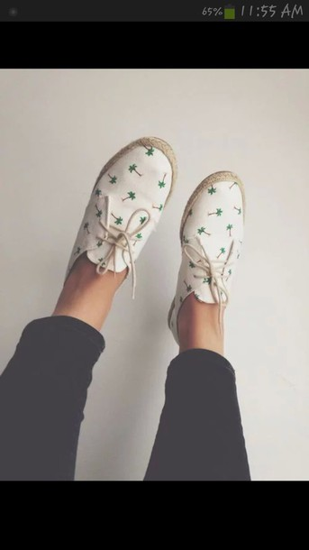shoes off white/white canvas shoes palm tree print white shoes lovely