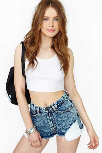 Acid  in  clothes bottoms shorts at nasty gal