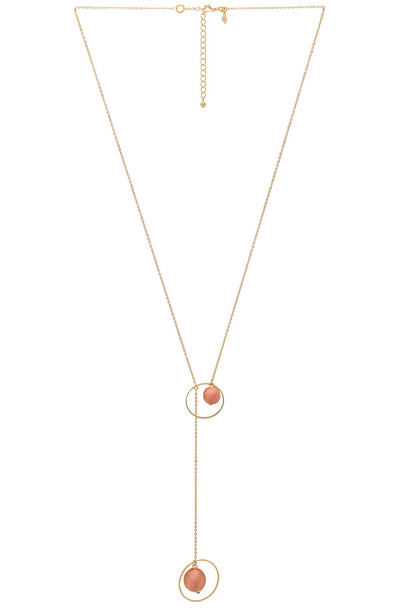 Rebecca Minkoff ball necklace metallic gold jewels