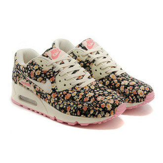 shoes nike sneakers air max trainers nike air max 90 hyperfuse nike air max 90 floral multicolor sneakers multicolor flowers nike