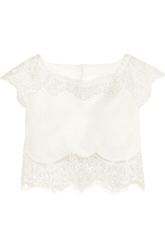 top cropped lace