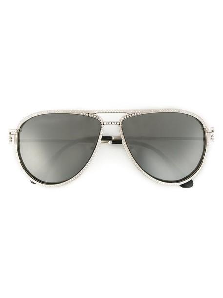 VERSACE women sunglasses stars grey metallic