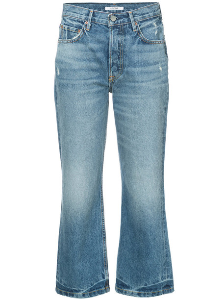 GRLFRND jeans cropped women cotton blue