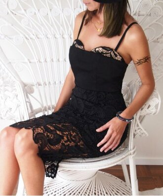 dress lace fashion sexy hot trendy party stylish clothes elegant classy rosegal-dec