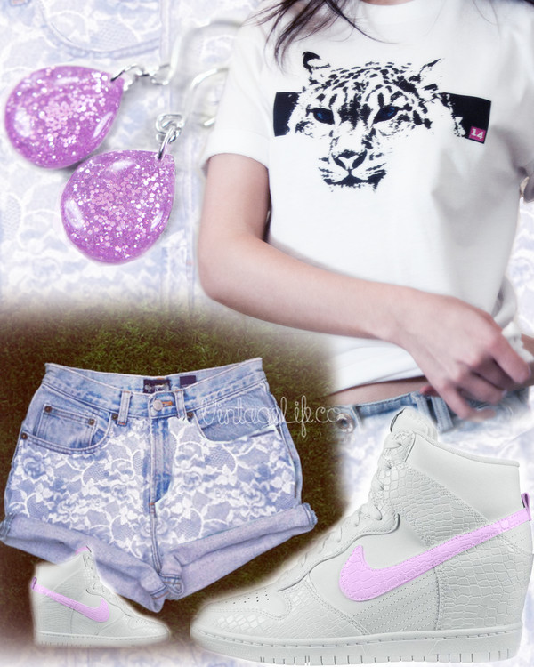 t-shirt 14 denim denim shorts london tiger swag nike air nike top topshop shorts shoes