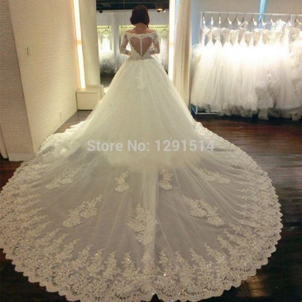 ab509e910a16 dress long train wedding dresses lace wedding dress wedding dress bridal  gown long sleeve wedding dress