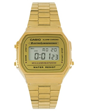 Casio | Casio A168WG-9EF Gold Plated Digital Watch at ASOS