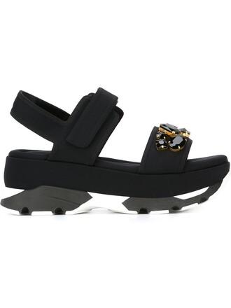 embellished sandals wedge sandals black shoes