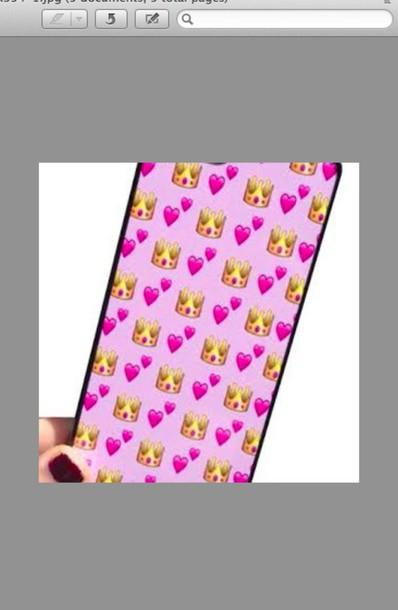 phone cover emoji print pink iphone cover iphone 6 plus ipod 5 case