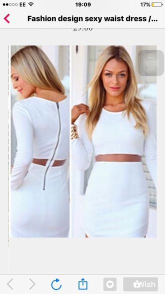 dress white white dress zip white cut out dress mesh mesh dress mesh panel panel cute cute dress girly girly dress indie tumblr tumblr outfit
