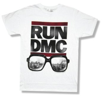 "Amazon.com: Run DMC ""Sunglasses"" White T-Shirt New Adult: Clothing"