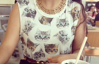 t-shirt white cats sweater black cats cat eye cat top cat tank top shirt cats jewels
